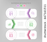 infographic template of three... | Shutterstock .eps vector #667161511