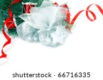 christmas decorations border... | Shutterstock . vector #66716335