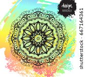 beautiful vector hand drawn... | Shutterstock .eps vector #667164361
