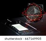 abstract techno scene vector... | Shutterstock .eps vector #667169905
