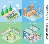 city bike concept vector in... | Shutterstock .eps vector #667170859