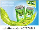 ice tea products ad. vector 3d... | Shutterstock .eps vector #667172071