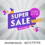 sale banner design. vector... | Shutterstock .eps vector #667175755