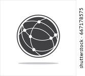 global technology vector icon ... | Shutterstock .eps vector #667178575