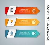 arrow infographic elements.... | Shutterstock .eps vector #667190209