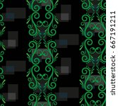 endless abstract pattern.... | Shutterstock .eps vector #667191211