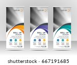roll up banner stand template... | Shutterstock .eps vector #667191685
