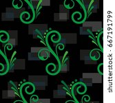 endless abstract pattern.... | Shutterstock .eps vector #667191799