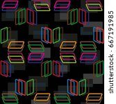 endless abstract pattern.... | Shutterstock .eps vector #667191985