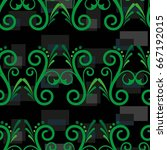 endless abstract pattern.... | Shutterstock .eps vector #667192015