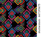 endless abstract pattern.... | Shutterstock .eps vector #667195675