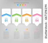 infographic template of four... | Shutterstock .eps vector #667196194