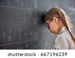 tough day at school  sad child... | Shutterstock . vector #667196239