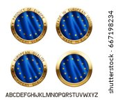 made in european union icon ... | Shutterstock .eps vector #667198234