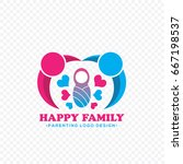 happy family logo vector | Shutterstock .eps vector #667198537