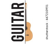 guitar classes badge label   Shutterstock .eps vector #667210951