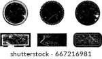 grunge post stamps collection ... | Shutterstock .eps vector #667216981