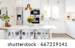 front view banner of a kitchen... | Shutterstock . vector #667219141
