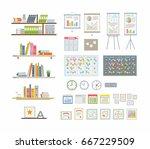 office essentials   modern... | Shutterstock .eps vector #667229509