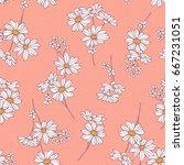 flower illustration pattern | Shutterstock .eps vector #667231051