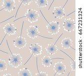 dandelion isolated on white...   Shutterstock .eps vector #667231324