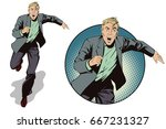 stock illustration. people in... | Shutterstock .eps vector #667231327