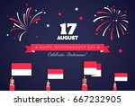 17 august. indonesia... | Shutterstock .eps vector #667232905