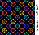 bright colors  background with... | Shutterstock .eps vector #667234681