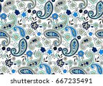 traditional indian paisley... | Shutterstock .eps vector #667235491