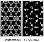 seamless patterns set.... | Shutterstock .eps vector #667236061
