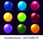 spheres. colored spheres on a... | Shutterstock .eps vector #667238479