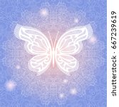 vintage tender blue background... | Shutterstock .eps vector #667239619