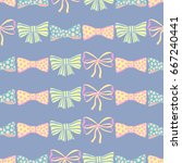 seamless pattern with hand... | Shutterstock .eps vector #667240441