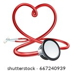 a red doctors stethoscope...   Shutterstock .eps vector #667240939
