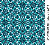 ornamental seamless pattern.... | Shutterstock .eps vector #667241245