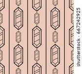 abstract modern seamless... | Shutterstock .eps vector #667242925