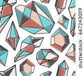abstract modern geometric... | Shutterstock .eps vector #667243009