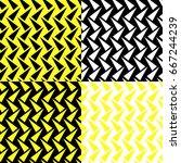 geometric background  seamless... | Shutterstock .eps vector #667244239