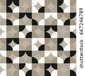 vintage geometric pattern with... | Shutterstock .eps vector #667246789
