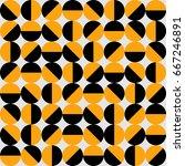 seventies style geometric... | Shutterstock .eps vector #667246891