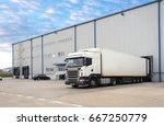 truck in warehouse | Shutterstock . vector #667250779
