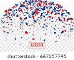 4th of july festive background. ... | Shutterstock .eps vector #667257745