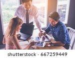 business people meeting design... | Shutterstock . vector #667259449