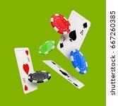 casino poker poster design... | Shutterstock .eps vector #667260385
