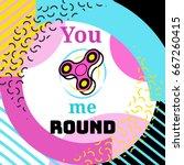 fidget spinner poster in trendy ... | Shutterstock .eps vector #667260415