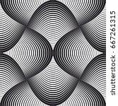 vector seamless pattern. modern ... | Shutterstock .eps vector #667261315