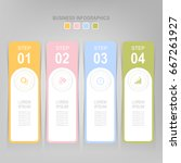 infographic template of four... | Shutterstock .eps vector #667261927