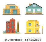 cottage and assorted real... | Shutterstock .eps vector #667262839