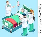 clinic nurse education training ... | Shutterstock .eps vector #667264219