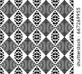 design seamless monochrome... | Shutterstock .eps vector #667269955